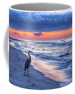 Heron On Mobile Beach Coffee Mug