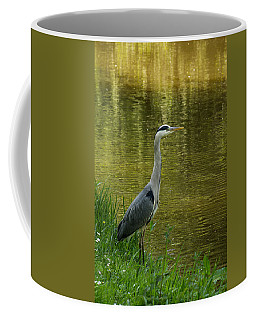 Heron Statue Coffee Mug by Georgia Mizuleva