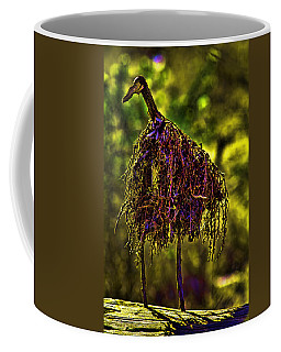 Coffee Mug featuring the photograph Heron Totem by Gary Holmes