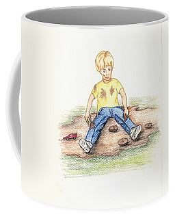Coffee Mug featuring the pastel Hez by Kim Pate