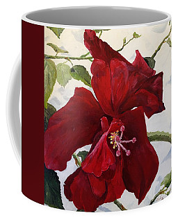 Double Hibiscus Coffee Mug