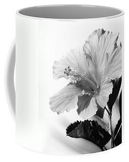 Hibiscus Bw Coffee Mug