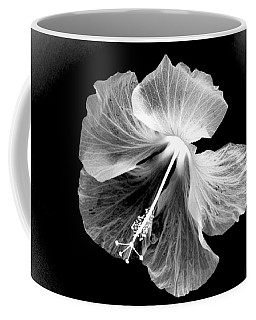 Hibiscus In Black And White Coffee Mug