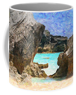 Coffee Mug featuring the photograph Hidden Beach by Verena Matthew