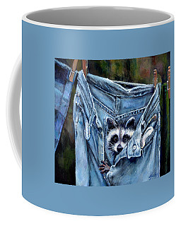 Hiding In My Jeans Coffee Mug by Donna Tucker