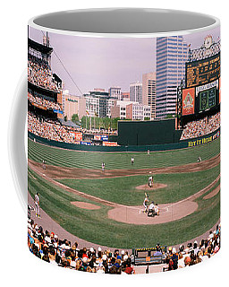 High Angle View Of A Baseball Field Coffee Mug