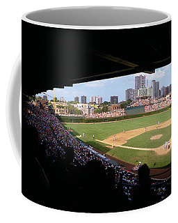 High Angle View Of A Baseball Stadium Coffee Mug