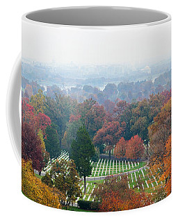 High Angle View Of A Cemetery Coffee Mug