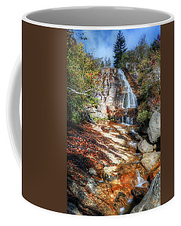 High Falls At Graveyard Fields On The Blue Ridge Parkway Coffee Mug