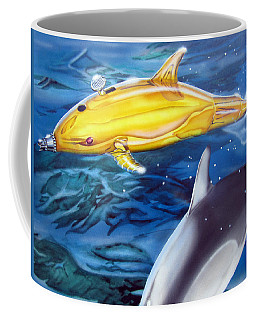 High Tech Dolphins Coffee Mug