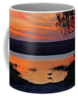 Coffee Mug featuring the photograph High Tide Heron by Laura Ragland