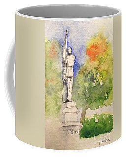 Highland Cemetery-plein Air-ypsilanti Michigan 1 Coffee Mug by Yoshiko Mishina
