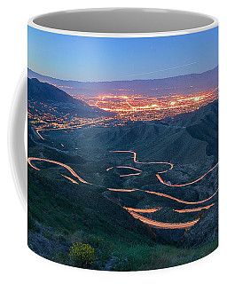 Highway 74 Palm Desert Ca Vista Point Light Painting Coffee Mug