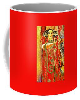 Higieja-according To Gustaw Klimt Coffee Mug by Henryk Gorecki