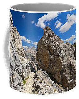 hike in Dolomites Coffee Mug by Antonio Scarpi