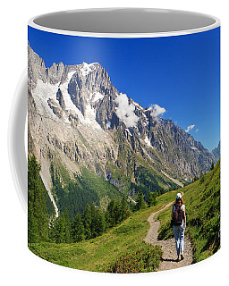 hiking in Ferret Valley Coffee Mug by Antonio Scarpi