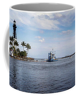 Hillsboro Inlet Lighthouse Panorama Coffee Mug
