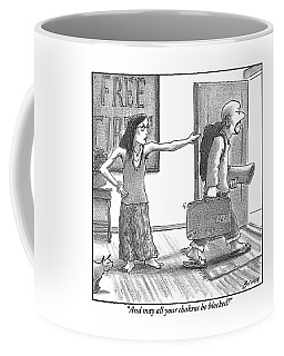 Hippie Girlfriend To Departing Hippie Husband Coffee Mug