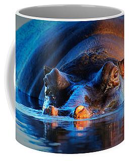Hippopotamus  At Sunset Coffee Mug
