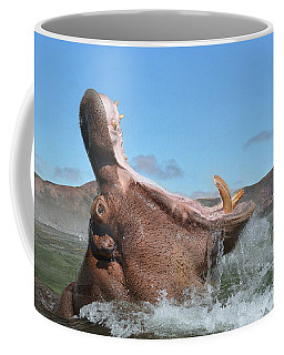 Hippopotamus Bursting Out Of The Water Coffee Mug