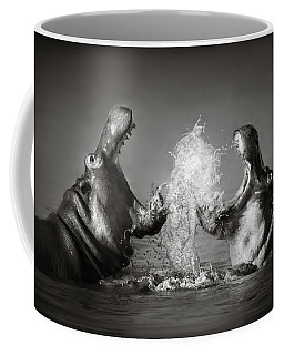 Hippo's Fighting Coffee Mug