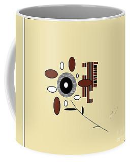 Coffee Mug featuring the digital art His First Flower by Ann Calvo