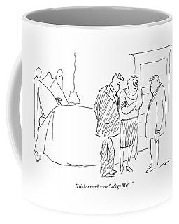 His Last Words Were 'let's Go  Mets.' Coffee Mug
