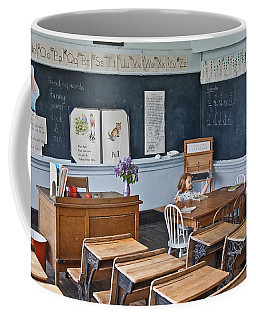Historic School Classroom Art Prints Coffee Mug by Valerie Garner