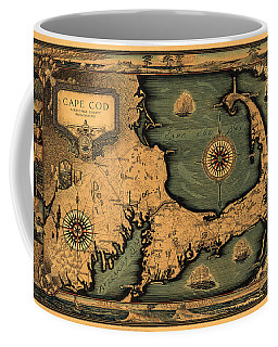 Historical Map Of Cape Cod Coffee Mug