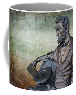History - Abraham Lincoln Contemplates -  Luther Fine Art Coffee Mug