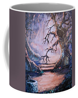 Hobbit Watering Hole Coffee Mug by Megan Walsh