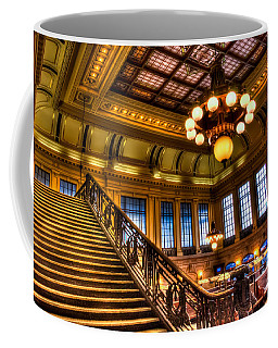 Hoboken Terminal Coffee Mug by Anthony Sacco