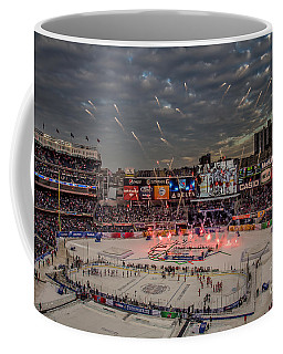 Hockey At Yankee Stadium Coffee Mug