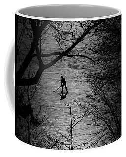 Hockey Silhouette Coffee Mug