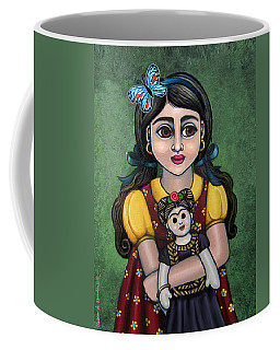 Holding Frida With Butterfly Coffee Mug