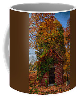 Coffee Mug featuring the photograph Holding Up The  Fall Colors by Jeff Folger
