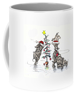 Holiday Ice Coffee Mug by Donna Tucker