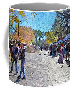 Holiday Market Coffee Mug by Ludwig Keck