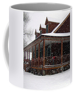 Holiday Porch Coffee Mug by Claudia Goodell