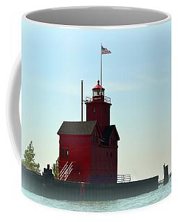 Holland Harbor Light Vignette Coffee Mug