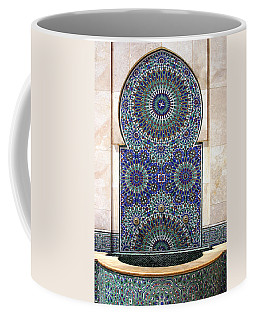 Holy Water Fountain Hassan II Mosque Sour Jdid Casablanca Morocco  Coffee Mug by Ralph A  Ledergerber-Photography
