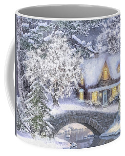 Home For The Holidays Coffee Mug by Mo T