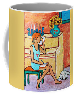 Coffee Mug featuring the painting Home Where My Heart Is Iv by Xueling Zou