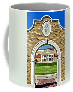 Coffee Mug featuring the photograph Homecoming Bonfire Arch by Mae Wertz