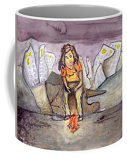 Homeless On The Edge Of The City Coffee Mug