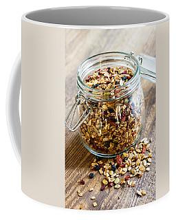 Homemade Granola In Glass Jar Coffee Mug