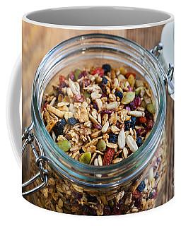 Homemade Granola In Open Jar Coffee Mug