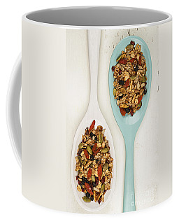 Homemade Granola In Spoons Coffee Mug