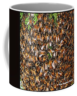 Honey Bee Swarm Coffee Mug by Tom Janca