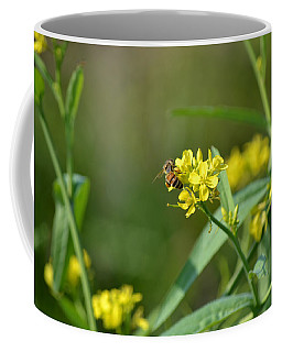 Honeybee On Wild Mustard Flower Coffee Mug
